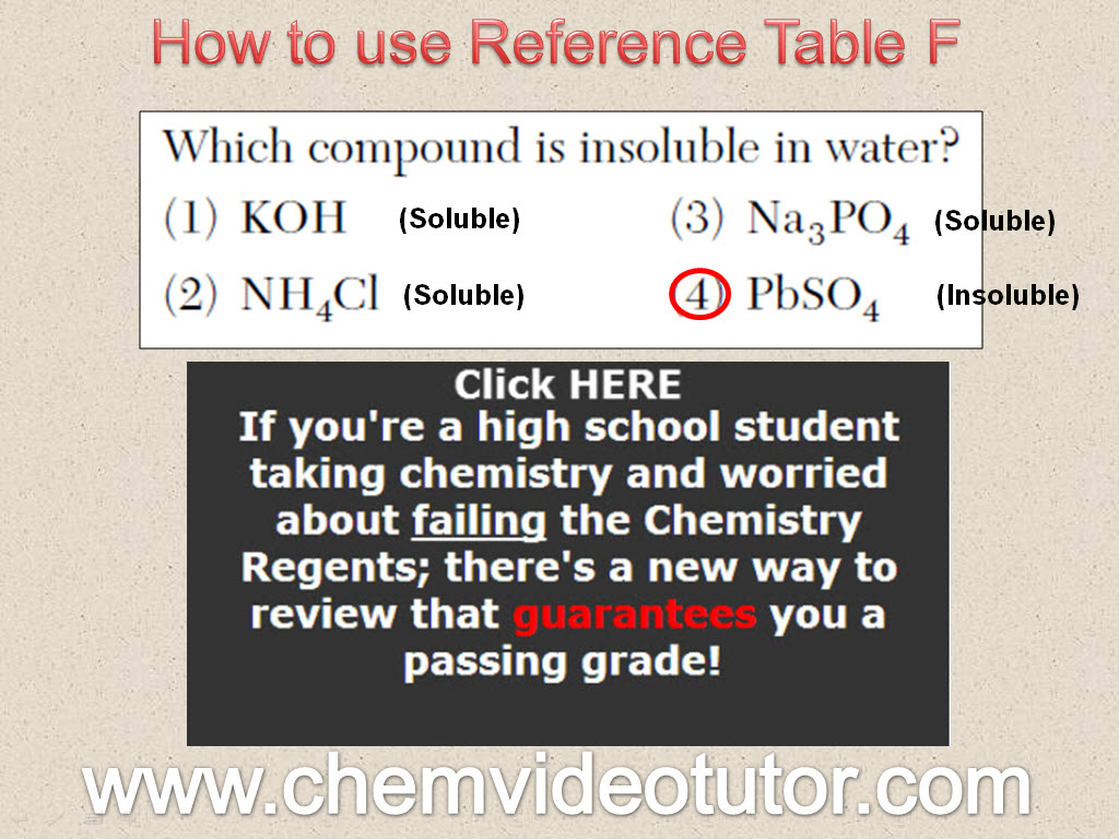 Answers to Video Questions | ChemVideoTutor com