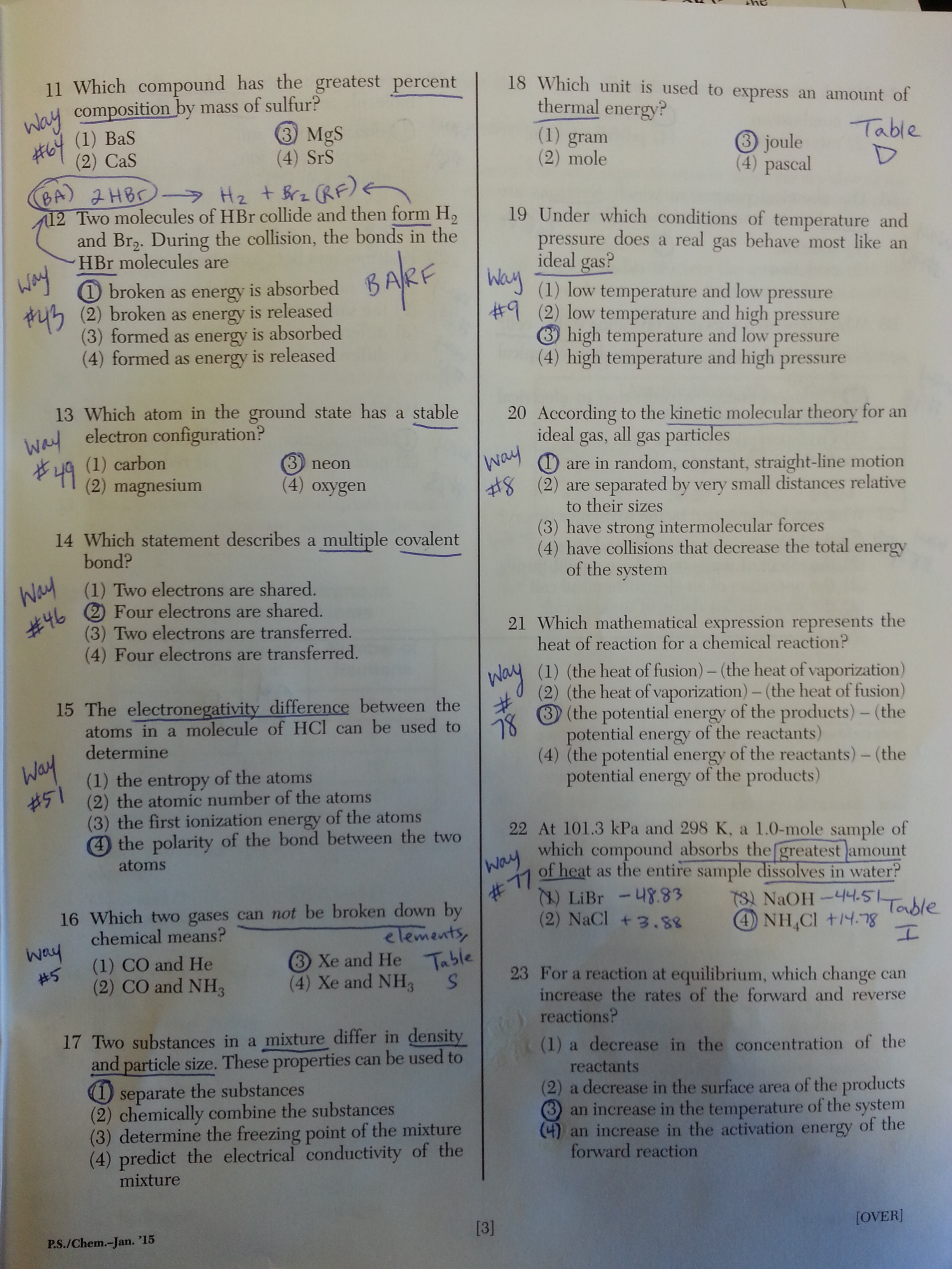 2015 chemistry regents questions answers ways 20150128 144808