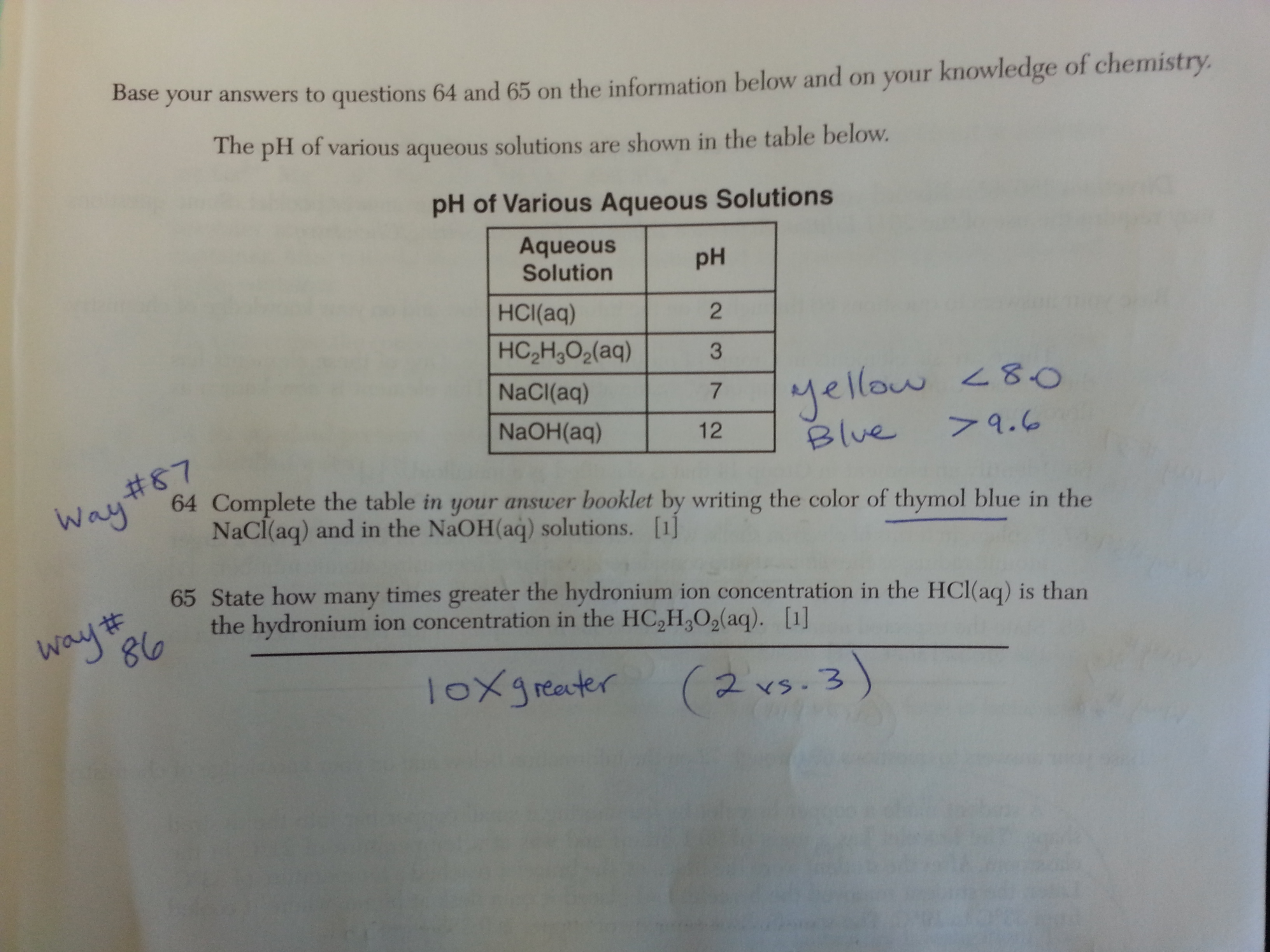 """January, 2015 Chemistry Regents: Questions, Answers & """"Ways"""
